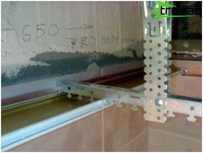 Kako pravilno instalirati gume za nosače za strop regala