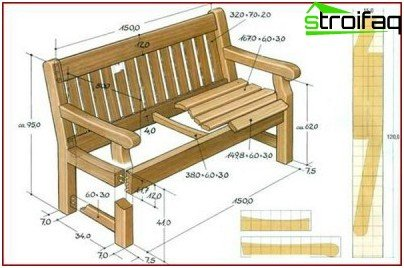 bench drawing