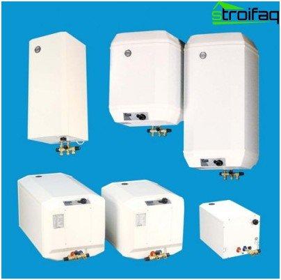 Una amplia selección de calentadores de agua para residentes de verano.