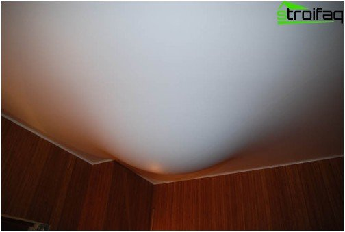 Stretch ceiling during flooding before repair