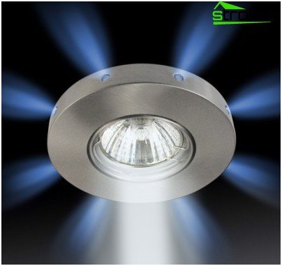 Mounting a spotlight in the ceiling