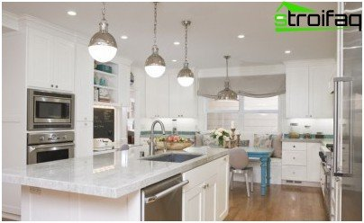 Multifunctional lighting in the kitchen