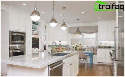 Iluminación multifuncional en la cocina.
