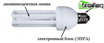 Дизайн на енергоспестяваща лампа