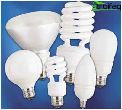 Sorten kompakter energiesparender Leuchtstofflampen