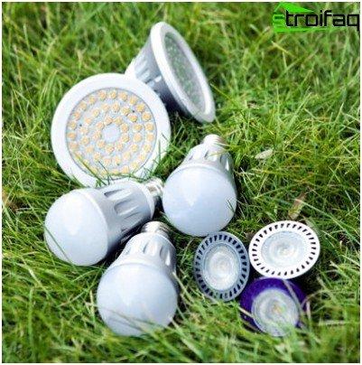 Verschiedene energiesparende LED-Lampen