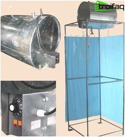 Ståltank med varmeapparat