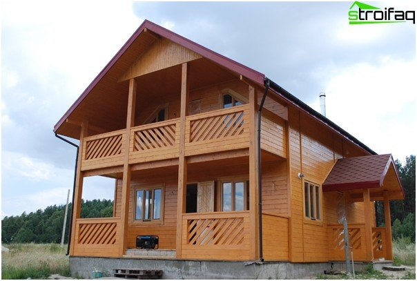 House built of timber