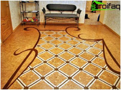 Die Verwendung von Kork im Wohnzimmer