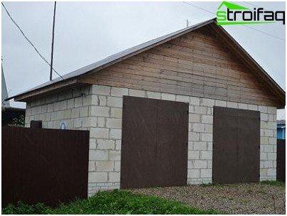 Optie 3 - Doe-het-zelf garage van schuimblokken
