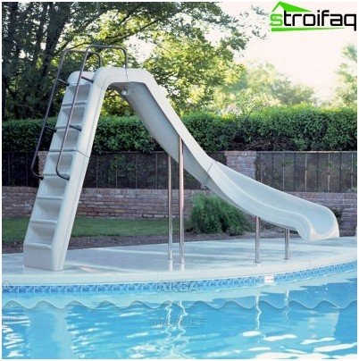 Slide for the pool