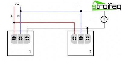 Схема підключення датчиків руху