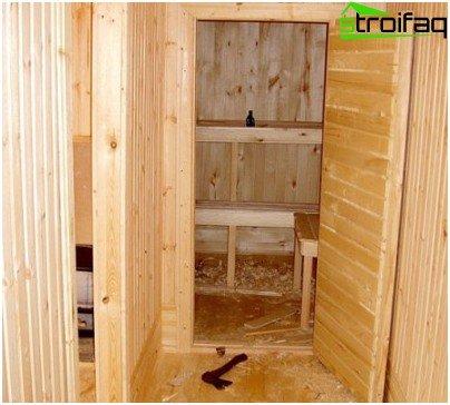 Door for bath and sauna