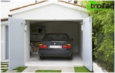 Puertas batientes de garaje