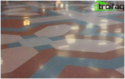 Bulk floor of different colors