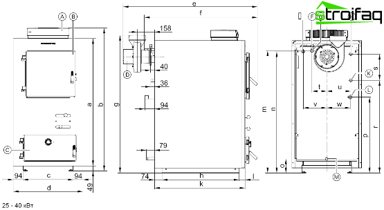 Wood pyrolysis boiler drawing