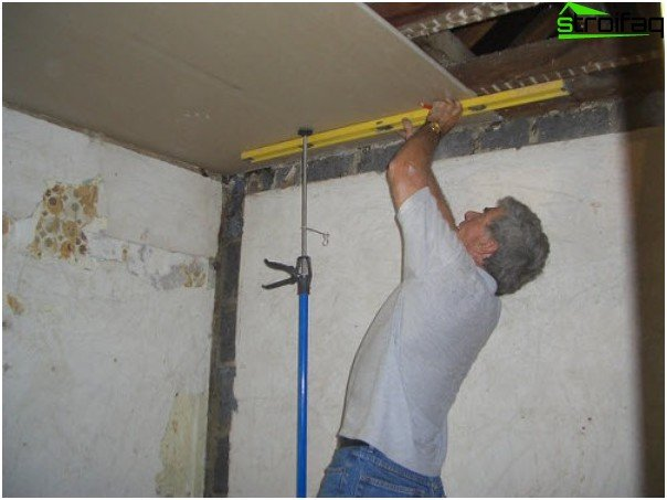 Fixing drywall to the frame