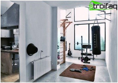 A self-made gym can only occupy part of the room
