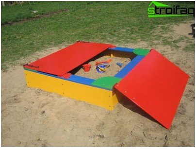 sandbox with a cover