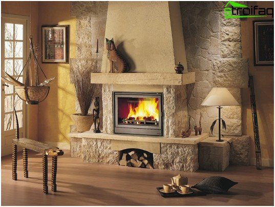Fireplace - the highlight of the living room
