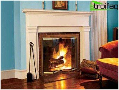 Decorative fireplace looks like a real