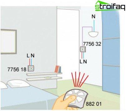 Home Lighting Remote Control Circuit