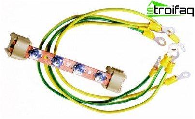 Kit de cable a tierra