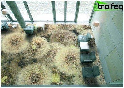 الأرضيات ثلاثية الأبعاد بالجملة في غرفة المعيشة