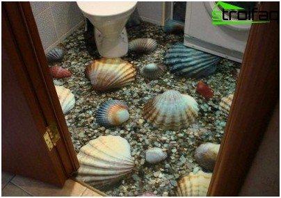 أرضيات الحمام المغمورة