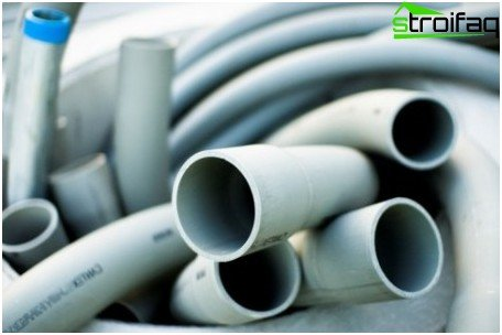 This is how plastic pipes look