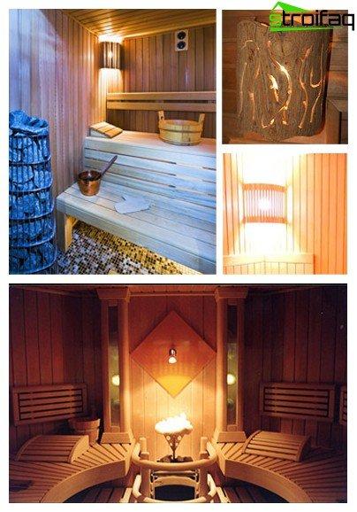 Opciones de iluminación del baño
