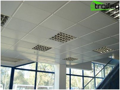 Tiled suspended ceiling
