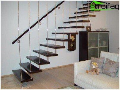 الدرج على الدرج متين وموجز.