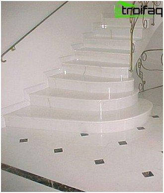 Marble concrete staircase
