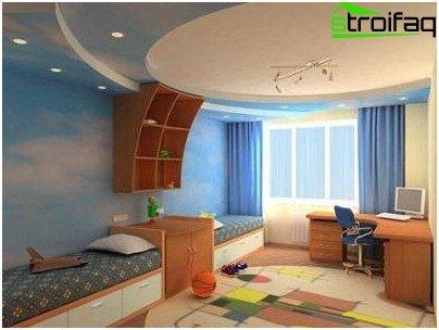 Tappeto con motivi a colori per la camera dei bambini