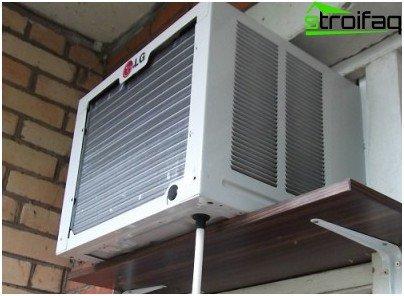 Finestra aria condizionata per l'appartamento