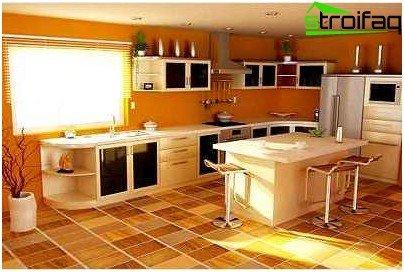 Künstliches Linoleum für die Küche