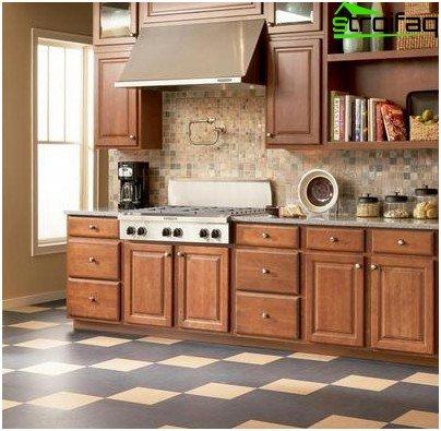 Linoleum für den Boden in der Küche