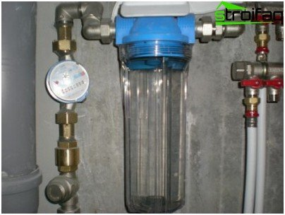 Filtro principal para la purificación del agua potable.