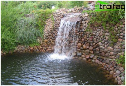 waterfall on site