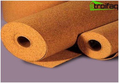 Roll of cork insulation