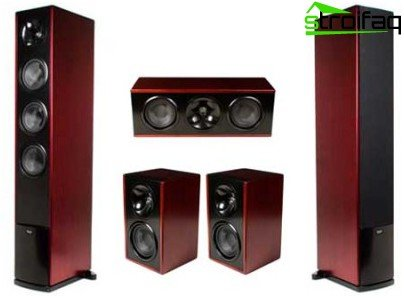 Acoustic system in a wooden case compared to a plastic one provides higher sound quality