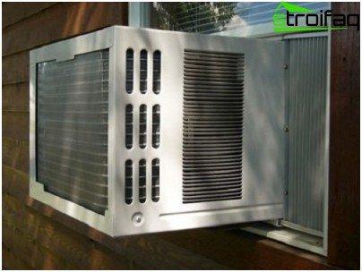 Airconditionanlægget er indeholdt i en enhed