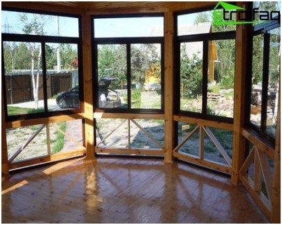glaseret veranda