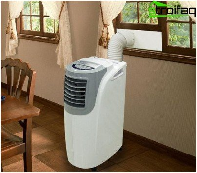 installation of a mobile air conditioner