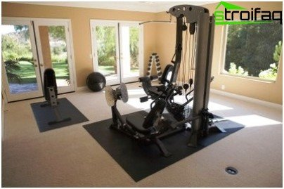 Home gym should be well ventilated
