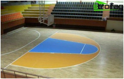 In sports complexes they also lay a parquet board