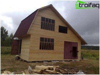 Revestimiento en la fachada de la casa