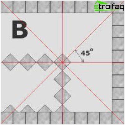 타일 아래에 바닥을 표시하는 방법