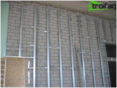 Montage des Rahmens an der Wand